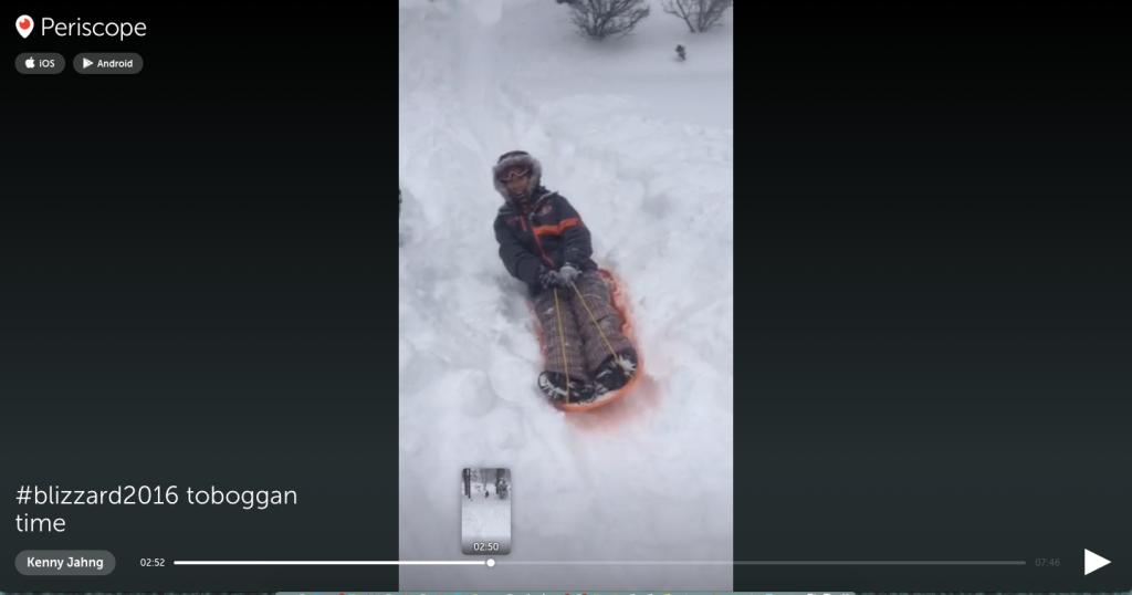 #blizzard2016 on Periscope