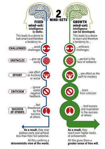 mindset by carol dweck infographic