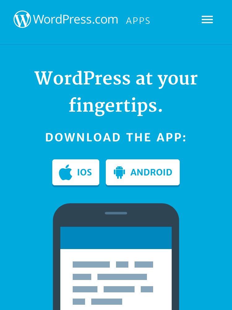 wordpress editing mobile app