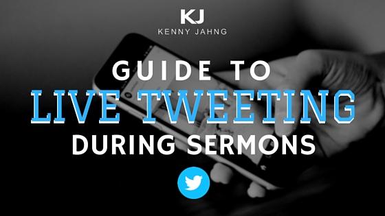 Live Tweeting During Sermons