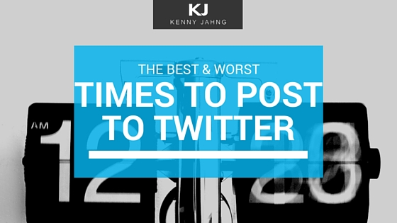 The best and worst times to post to Twitter