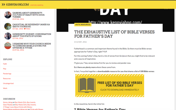 Father's Day Scripture Index download