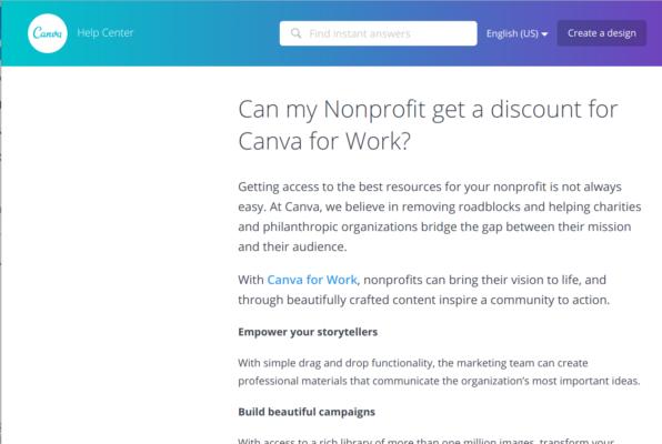 free nonprofit church Canva account