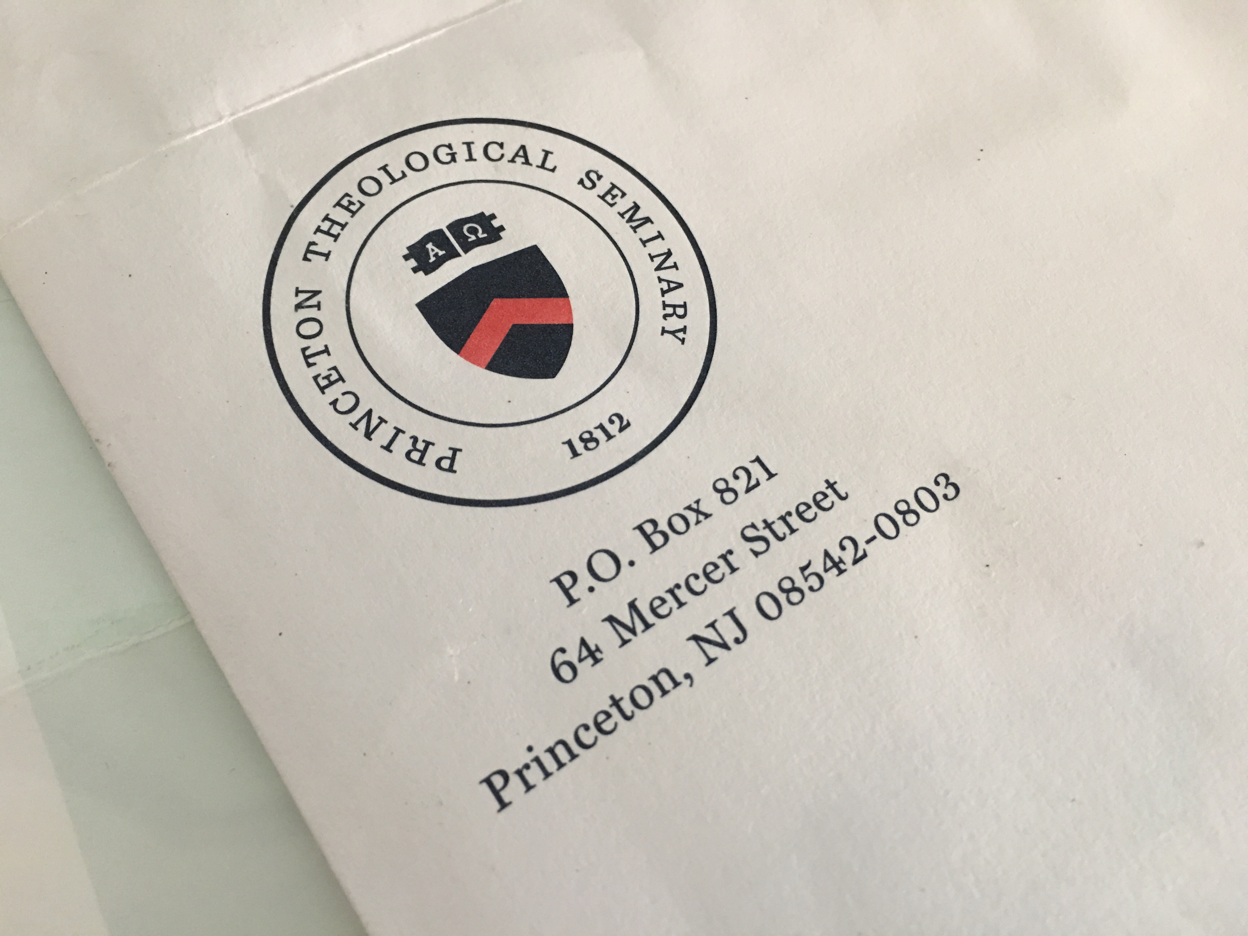 princeton theological seminary new logo