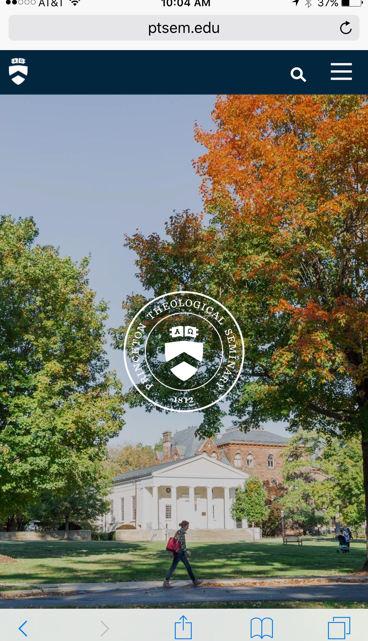 princeton theological seminary website