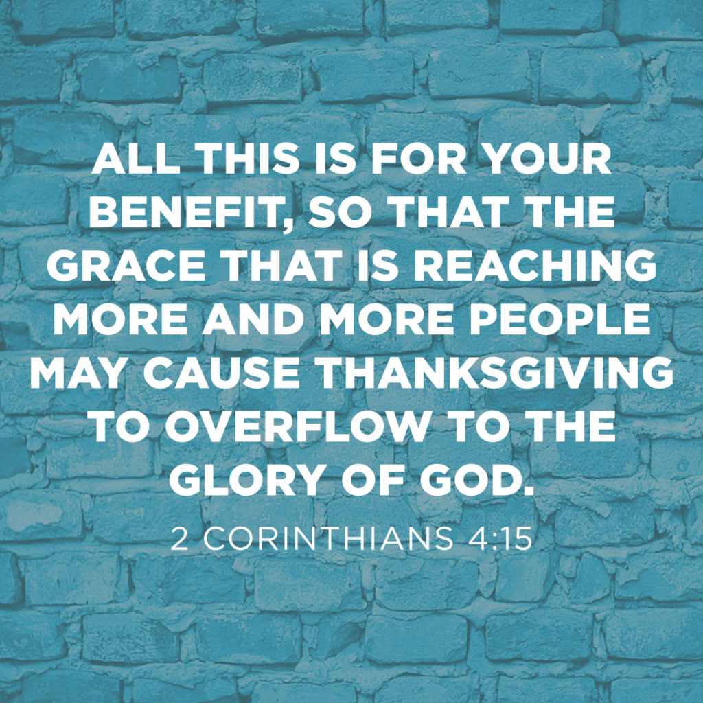 thanksgiving social media 2 Corinthians