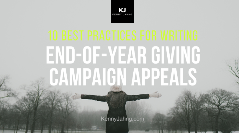 Best Practices for End Of Year Giving Appeals