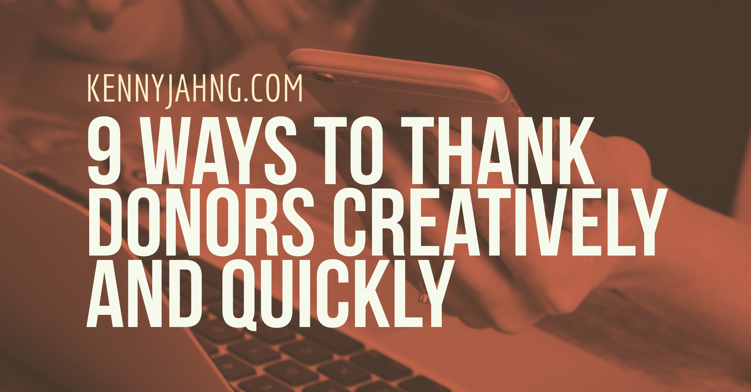 9 ways to thank donors